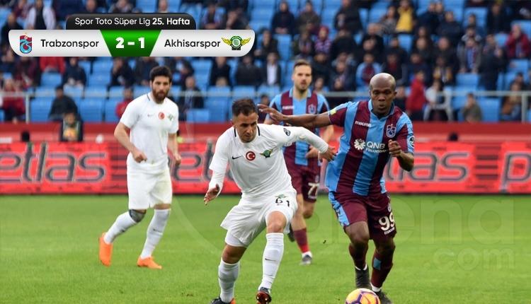 Trabzonspor 2-1 Akhisarspor maç özeti ve golleri (İZLE)