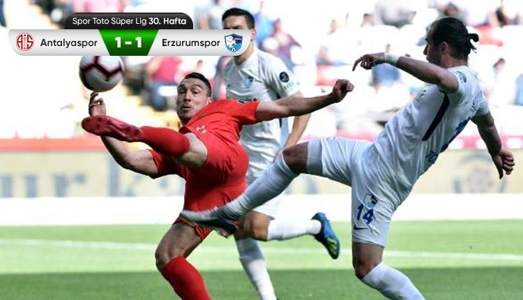 Antalyaspor 1-1 BB Erzurumspor maç özeti ve golleri (İZLE)