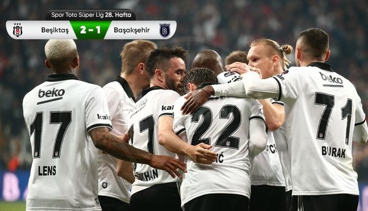 Beşiktaş 2-1 Başakşehir maç özeti ve golleri (İZLE)