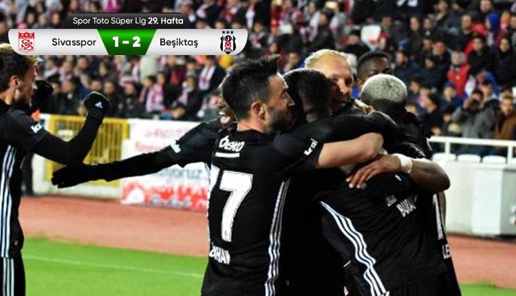 Beşiktaş, Sivasspor deplasmanında farkı 6'ya düşürdü (İZLE)