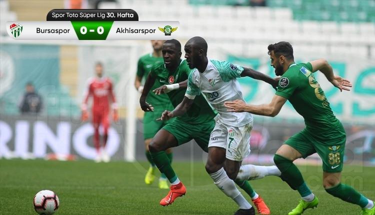Bursaspor 0-0 Akhisarspor maç özeti (İZLE)