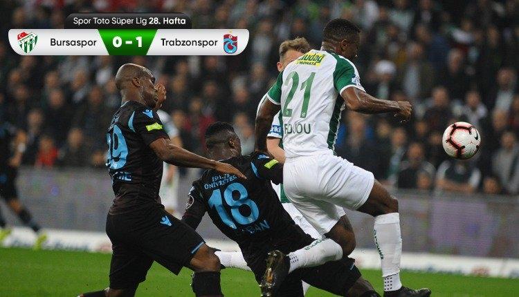 Bursaspor 0-1 Trabzonspor maç özeti ve golü (İZLE)