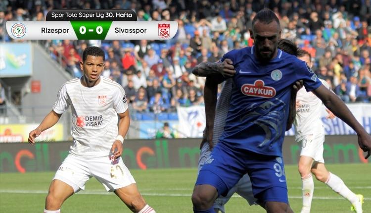 Çaykur Rizespor 0-0 Sivasspor maç özeti izle (Vedat Muriç'in iptal edilen golü)