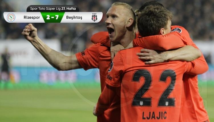 Çaykur Rizespor 2-7 Beşiktaş maç özeti ve golleri (İZLE)