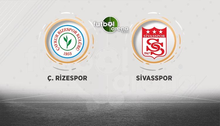 Çaykur Rizespor - Demir Grup Sivasspor beIN Sports canlı izle