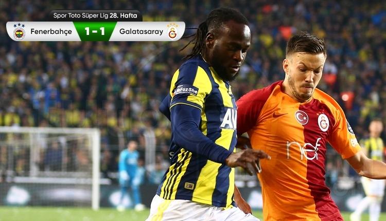Fenerbahçe 1-1 Galatasaray maç özeti ve golleri (İZLE)