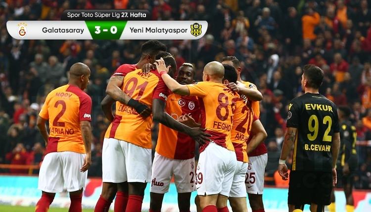 Galatasaray 3-0 Yeni Malatyaspor maç özeti ve golleri (İZLE)