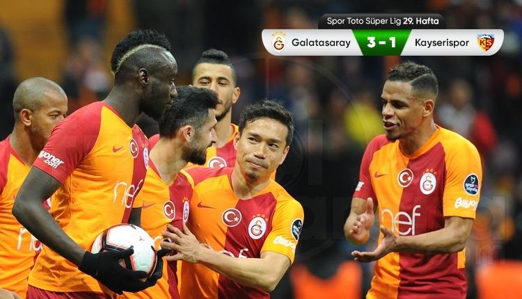 Galatasaray 3-1 Kayserispor maç özeti ve golleri (İZLE)
