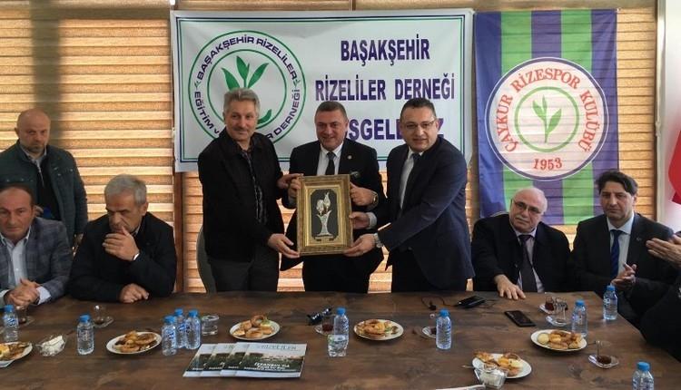 Hasan Kartal, Başakşehir Rizeliler Derneği'ni ziyaret etti