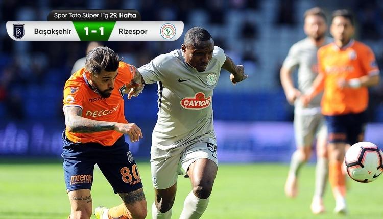 Medipol Başakşehir 1-1 Çaykur Rizespor maç özeti ve golü (İZLE)