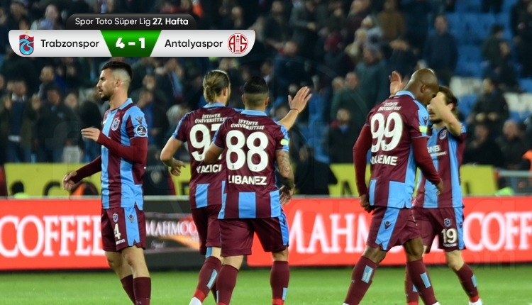 Trabzonspor 4-1 Antalyaspor maç özeti ve golleri (İZLE)