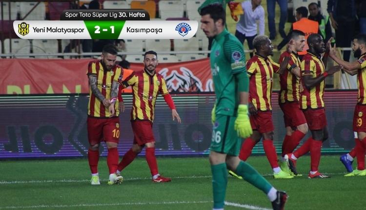 Yeni Malatyaspor 2-1 Kasımpaşa maç özeti ve golleri (İZLE)