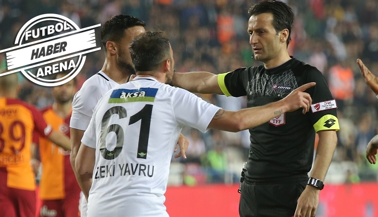 Akhisarspor - Galatasaray maçında olay! 2 penaltı 1 kırmızı kart