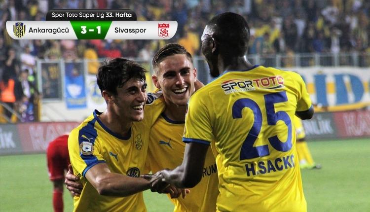 Ankaragücü 3-1 Sivasspor maç özeti ve golleri (İZLE)