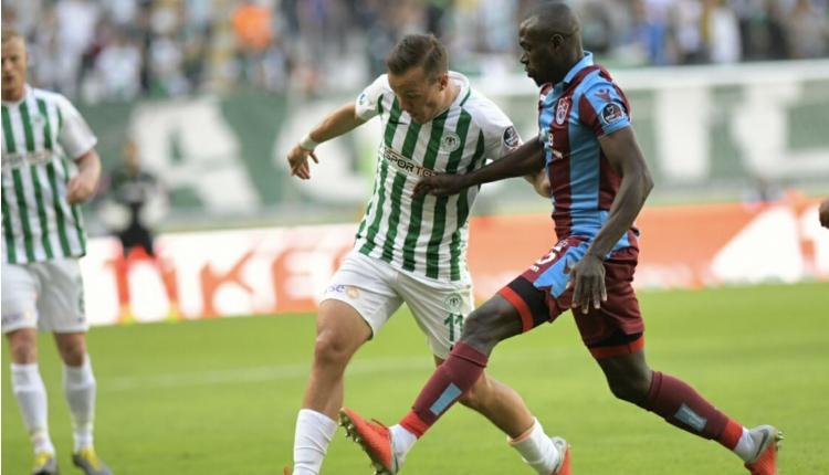 Atiker Konyaspor 2-2 Trabzonspor maç özeti ve golleri (İZLE)