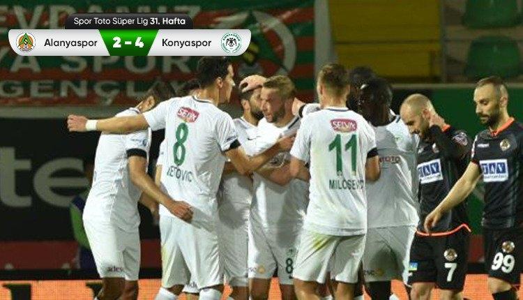 Aytemiz Alanyaspor 2-4 Atiker Konyaspor maç özeti ve golleri (İZLE)