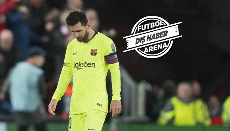 Futbol dünyası bunu da gördü! Messi'ye taraftar protestosu