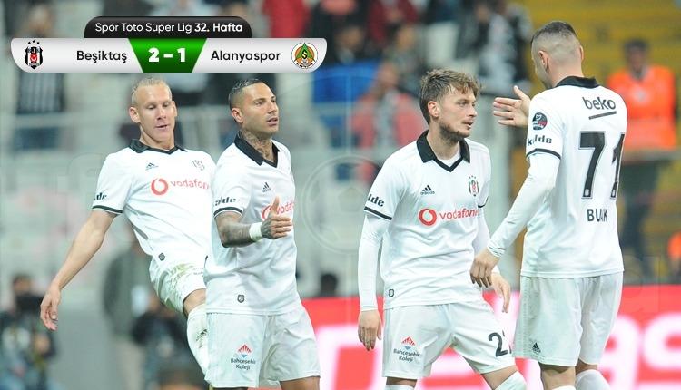 Beşiktaş 2-1 Alanyaspor maç özeti ve golleri (İZLE)