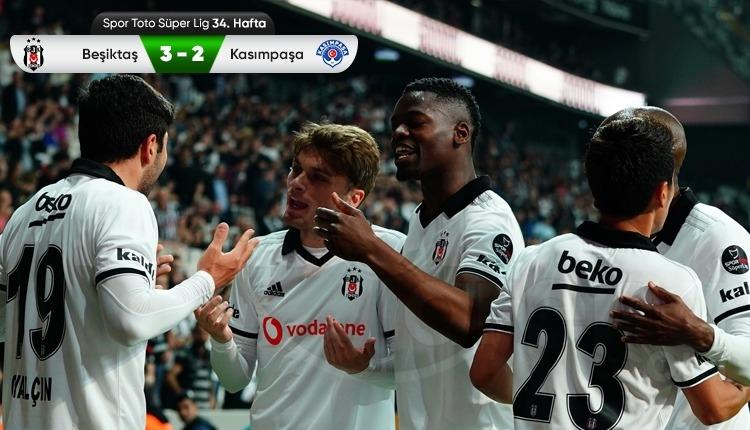 Beşiktaş 3-2 Kasımpaşa maç özeti ve golleri (İZLE)