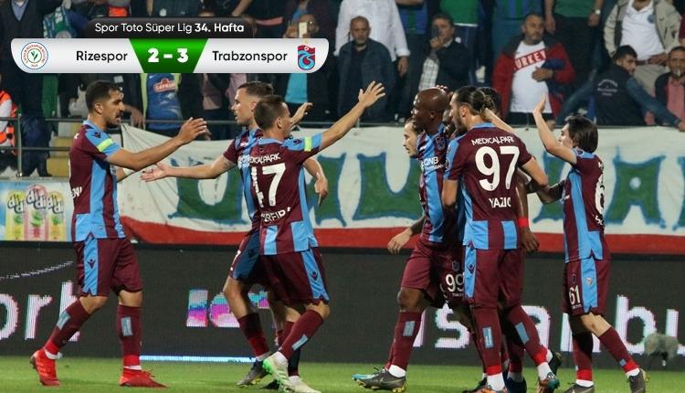 Çaykur Rizespor 2-3 Trabzonspor maç özeti ve golleri (İZLE)