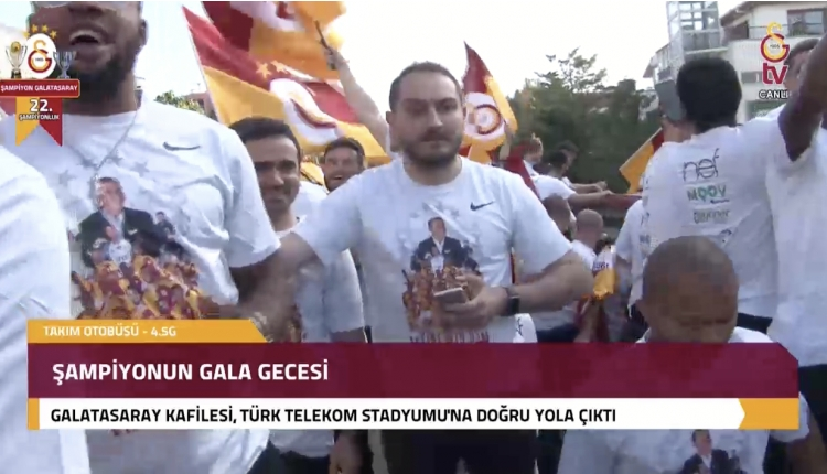 Galatasaray şampiyonluk kutlamaları canlı izle (Galatasaray TV, GS TV Şampiyonluk kutlamaları izle)