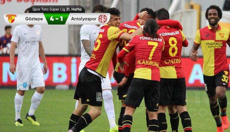 Göztepe 4-1 Antalyaspor maç özeti ve golleri (İZLE)