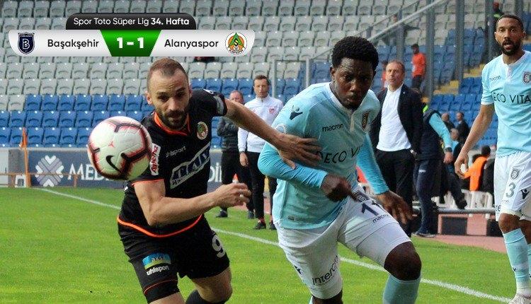 Medipol Başakşehir 1-1 Aytemiz Alanyaspor maç özeti (İZLE)