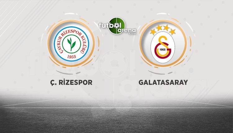 Rizespor - Galatasaray canlı ve şifresiz izle (Rizespor - Galatasaray beIN Sports İZLE)