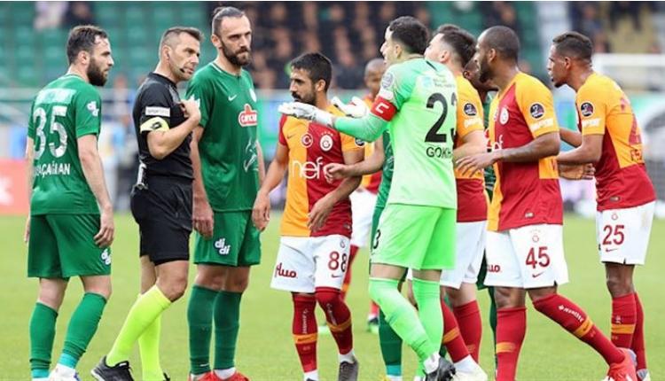 TFF'den Çaykur Rizespor - Galatasaray maçı kararı