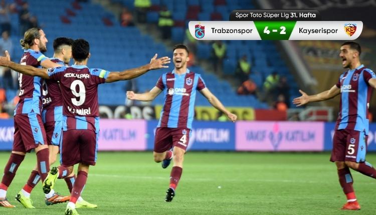 Trabzonspor 4-2 Kayserispor maç özeti ve golleri (İZLE)