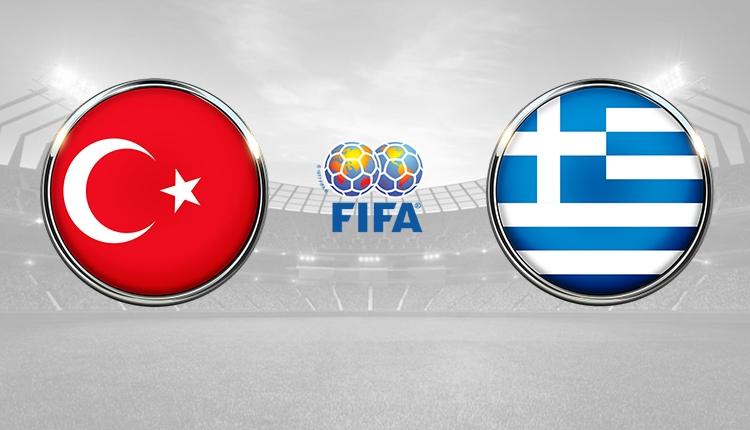 Türkiye - Yunanistan maçı 11'leri belli oldu