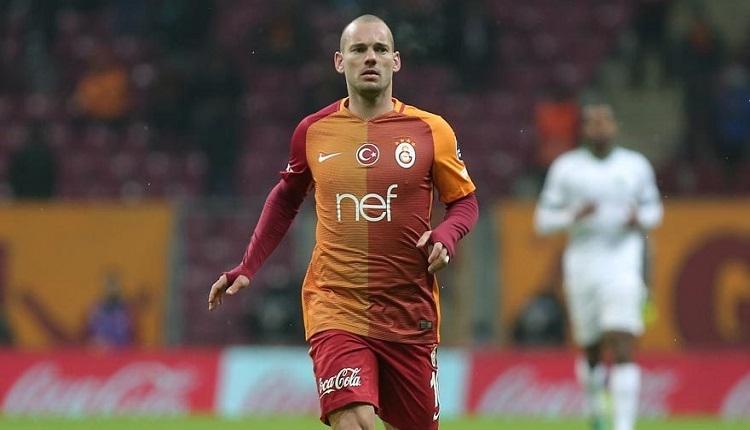 Wesley Sneijder Galatasaray - Başakşehir maçında İstanbul'da
