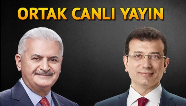 Ekrem İmamoğlu - Binali Yıldırım canlı yayını (Sözcü TV, Halk Tv İzle)
