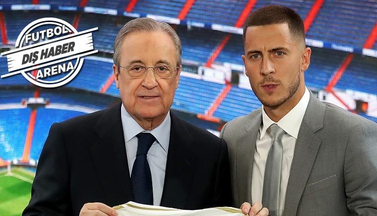 Hazard'ın Real Madrid'de imza töreninde Mbappe çılgınlığı