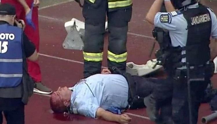 Romanya'da büyük olay! Polis görevlisi kanlar içinde yerde kaldı