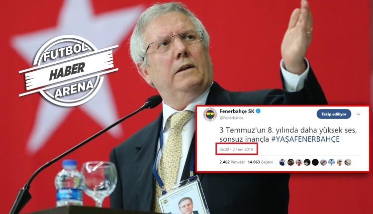 Fenerbahçe'den dikkat çeken 3 Temmuz paylaşımı! Aziz Yıldırım...