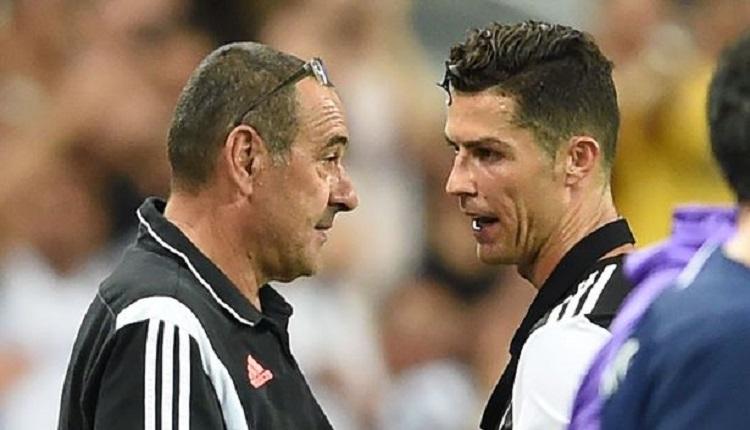 Juventus'ta Ronaldo - Sarri gerginliği mi? Golden 3 dakika sonra oyundan aldı