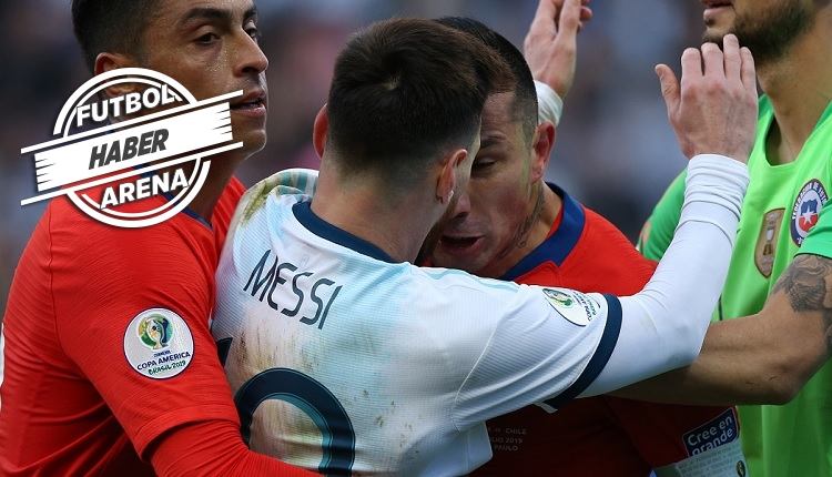 Medel ve Messi'nin kavgası! Kırmızı kart gördüler (İZLE)