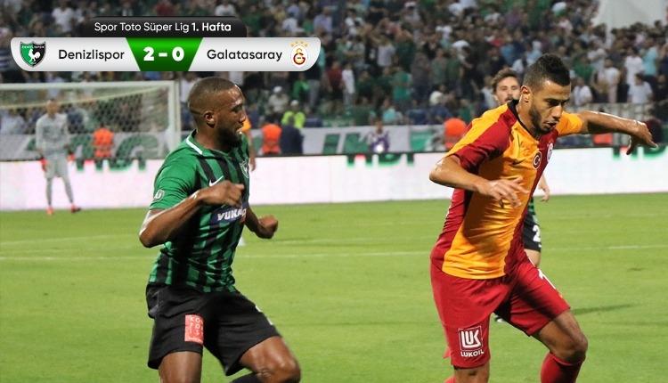 Denizlispor 2-0 Galatasaray maç özeti ve golleri (İZLE)