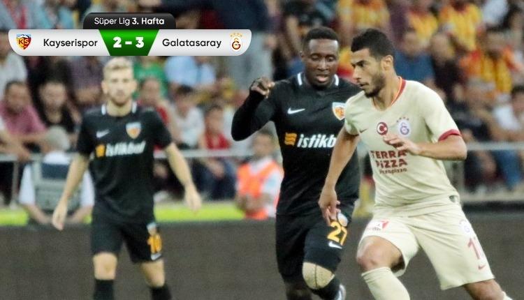 Kayserispor 2-3 Galatasaray beIN Sports maç özeti (İZLE)