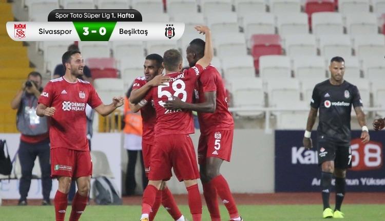 Beşiktaş, Sivas'ta ağır yaralı | 3-0