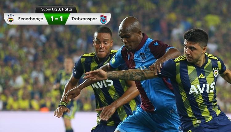 Fenerbahçe 1-1 Trabzonspor maç özeti ve golleri (İZLE)
