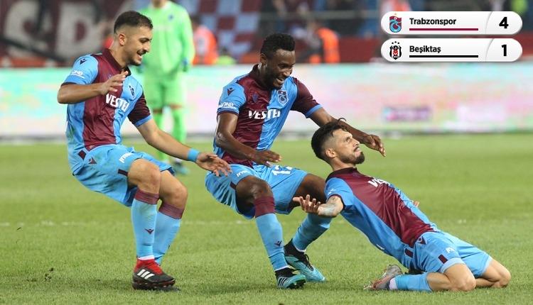 Trabzonspor 4-1 Beşiktaş beIN Sports geniş özet ve golleri (İZLE)