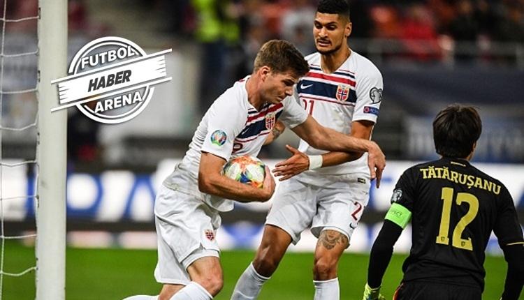 Alexander Sörloth'un Romanya - Norveç maçında attığı gol (İZLE)