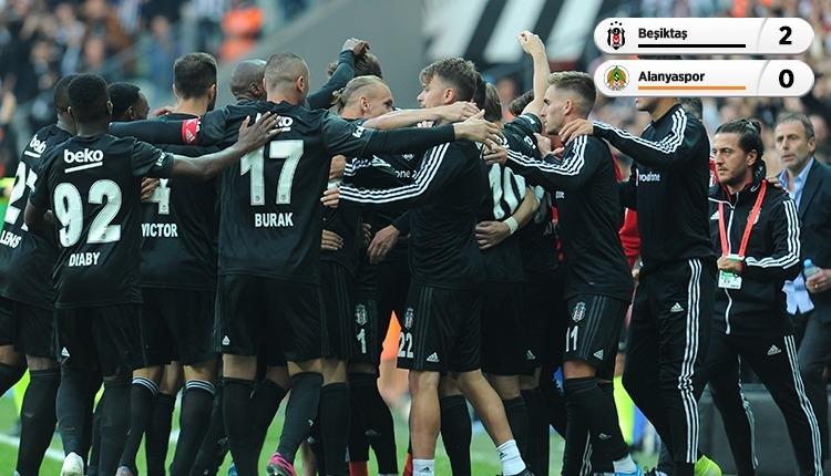 Beşiktaş, lider Aytemiz Alanyaspor'u devirdi (İZLE)