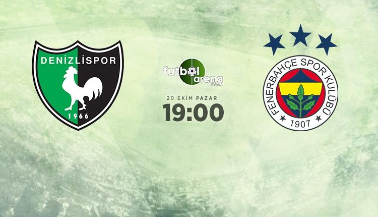 Denizlispor - Fenerbahçe maçı muhtemel 11'ler