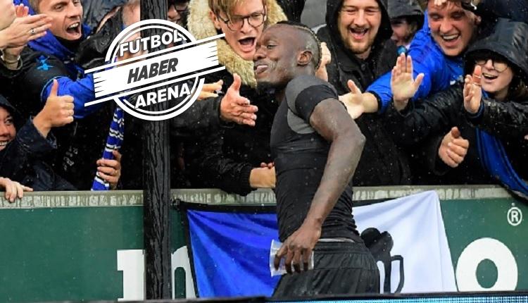 Diagne golü attı taraftarın birasını içti (İZLE)