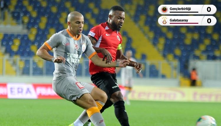 Galatasaray, Gençlerbirliği engeline takıldı (İZLE)