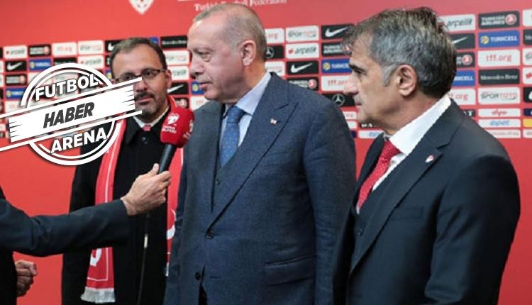 Şenol Güneş'ten Erdoğan'a: