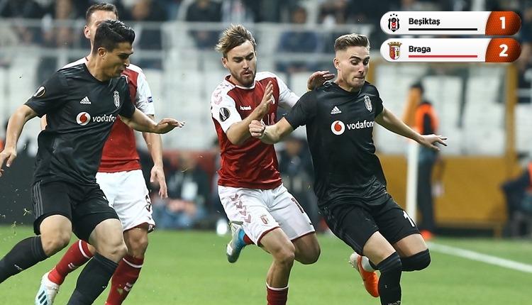 Vodafone Park'ta Braga kazandı - Beşiktaş kayıp (İZLE)